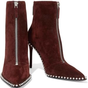 •ALEXANDER WANG• Eri Studded Suede Ankle Boots